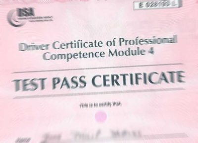 Driver CPC Certificate - Howells Training